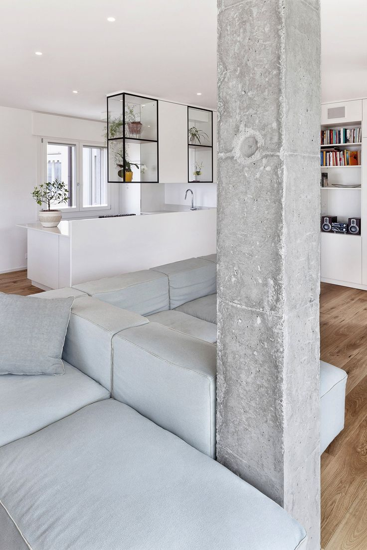 Modern And Inspiring Interior Displaying Concrete Pillars by Studiomobile