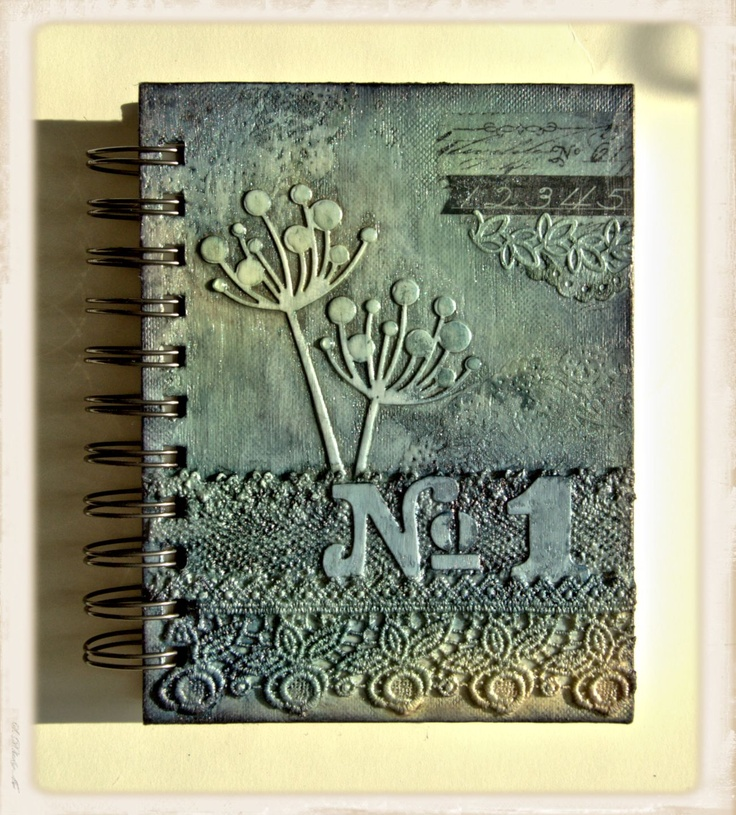 Altered Book Cover Tutorial ~ Altered notebook great texture mixed media pinterest