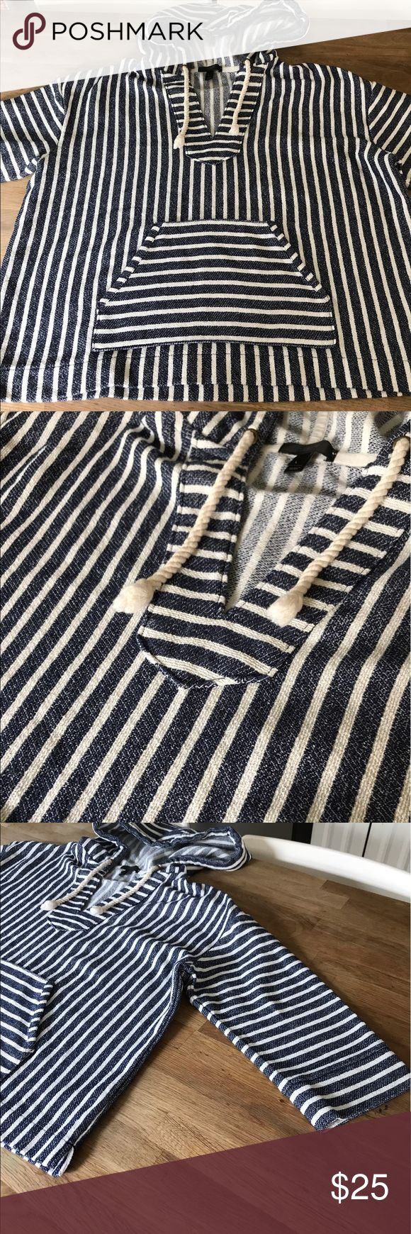 J. Crew Hoodie women's large Adorable J crew nautical vibe hoodie. Purchases on Psh and didn't fit my daughter. Brand new never worn. Cotton/polyester blend. So adorable and perfect for those summer nights. Size large J. Crew Tops Sweatshirts & Hoodies
