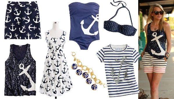 anchor clothes | Anchor Print Clothing | Nautical Clothing | J Crew Anchors Collection