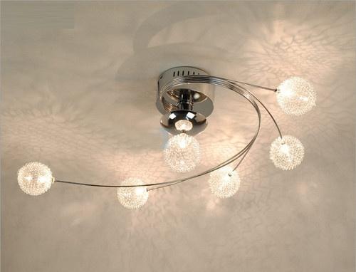 Modern Siver Aluminum Wire Ball Pendant Lamp Chandelier Light Ceiling lights  US $99.99