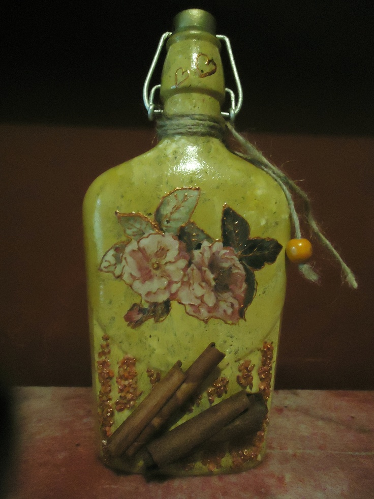 PAINTED BOTTLE.