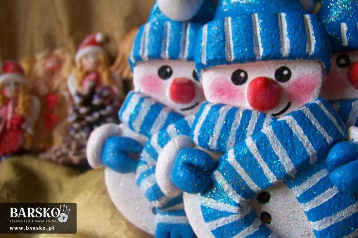 Salt Dough Little Snowmen