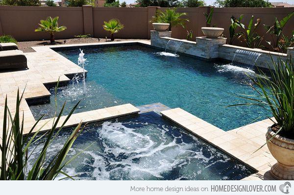 20 Geometric Pool Designs with Corners and Sleek Lines