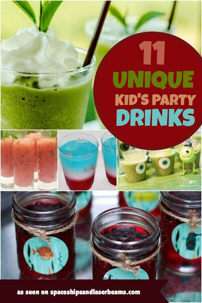 """From Monster Smoothies to Swamp Slime, check out these unique and tasty kids party drinks! (via """"Spaceships and Laser Beams"""")"""
