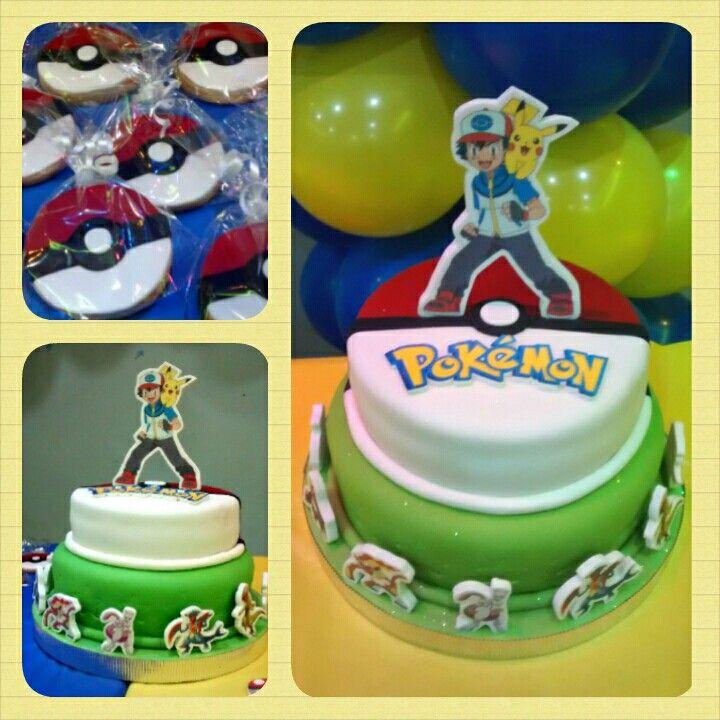 Cake y Galletas Pokémon #Pritycakes #cakes #cookies #fondant #pokemon