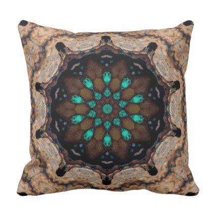 Delightful Turquoise. Throw Pillow - chic design idea diy elegant beautiful stylish modern exclusive trendy