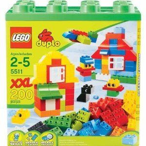 LEGO Duplo 5511 XXL Box by LEGO. $78.00. Includes a building inspiration guide!. Reusable sturdy container makes cleanup and storage a snap!. Perfect for introducing a young one to the world of DUPLO building fun!. Contains 200 pieces, for ages 2-5. DUPLO products are fun and safe for younger, smaller hands!. The LEGO DUPLO XXL Box will provide endless hours of creative building fun! Start the LEGO DUPLO building fun with a whopping 200 colorful elements! Big, bright DUP...