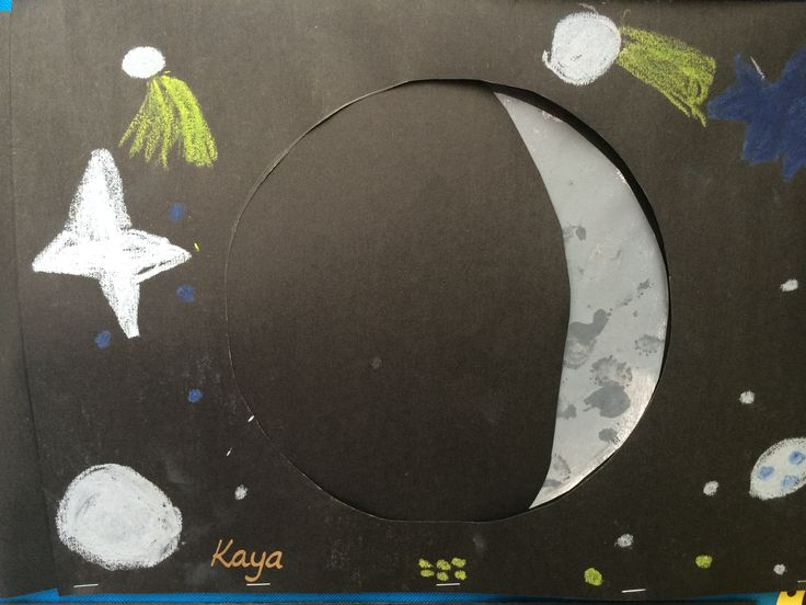 Another 'Phases of the Moon' picture. The project has a slider so that the children can change how much of their moon is showing.