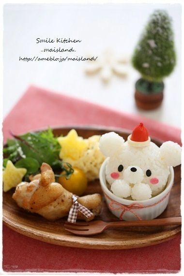 Christmas bear bento