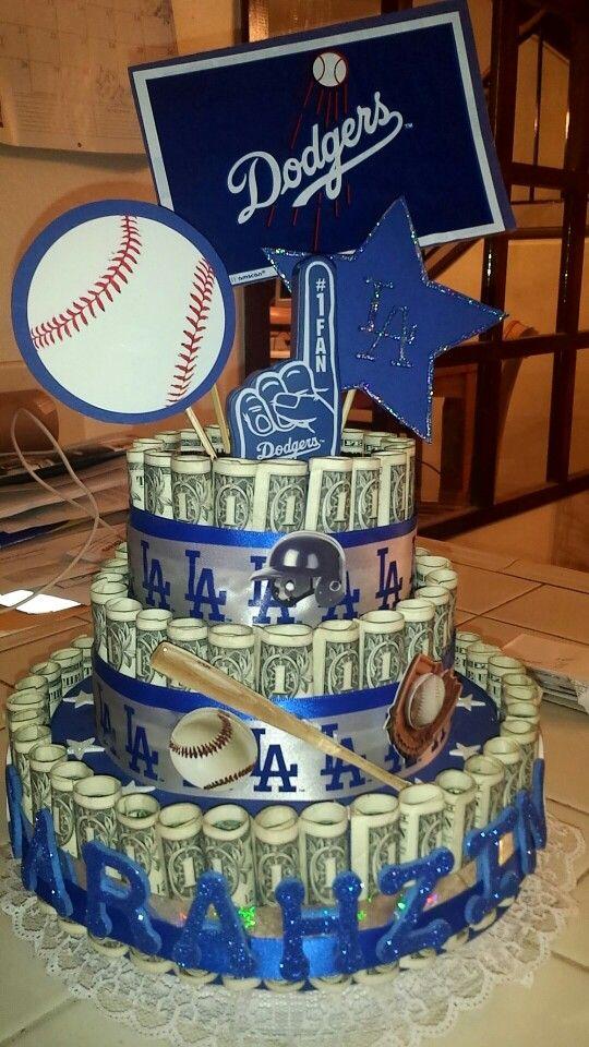 Dodgers money cake