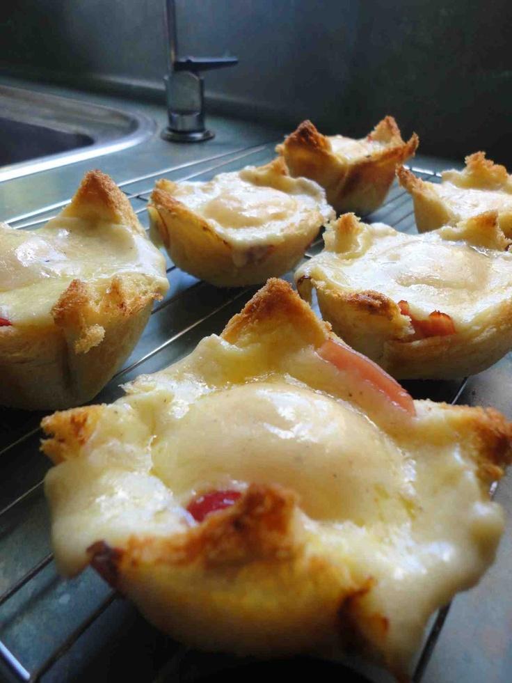 Rachel Khoo's Croque madame Muffin cups