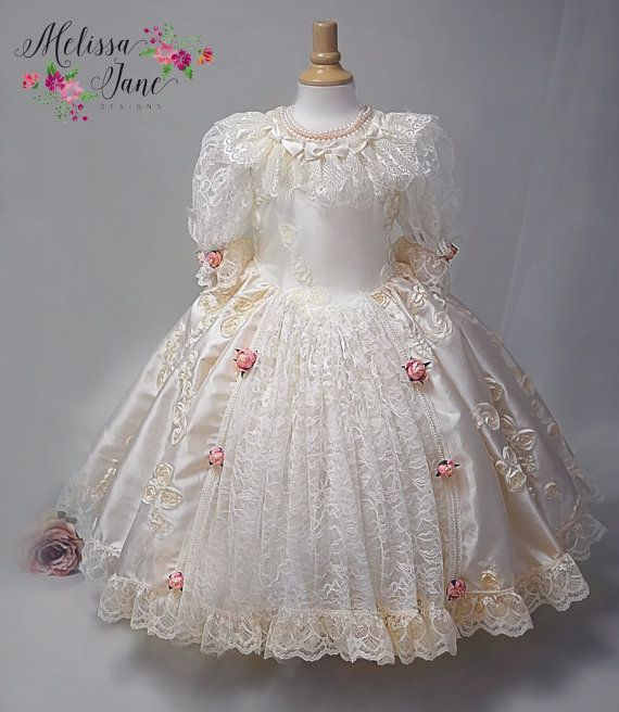 Precious Pearl Flower Girl Dress Princess by MelissaJaneBoutique