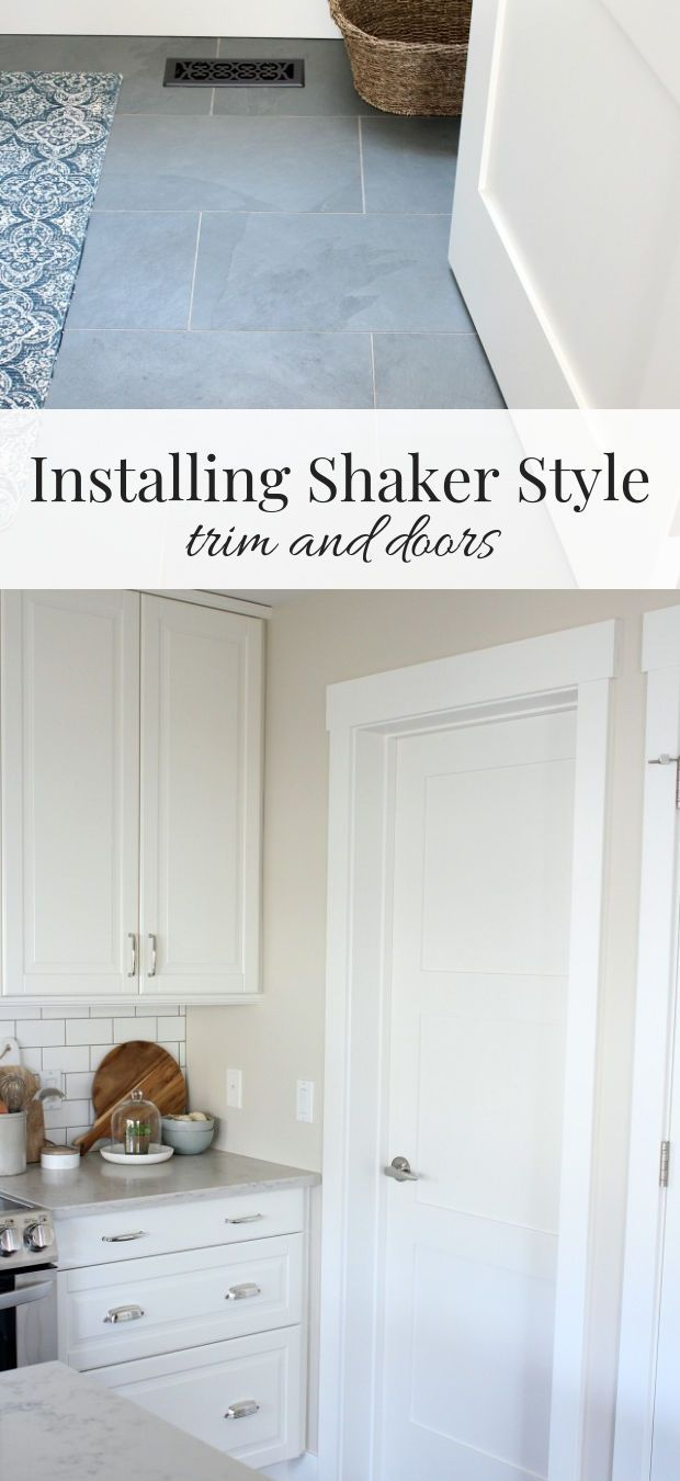 Shaker Style Trim And Doors The