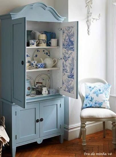 beautiful blue cupboard.