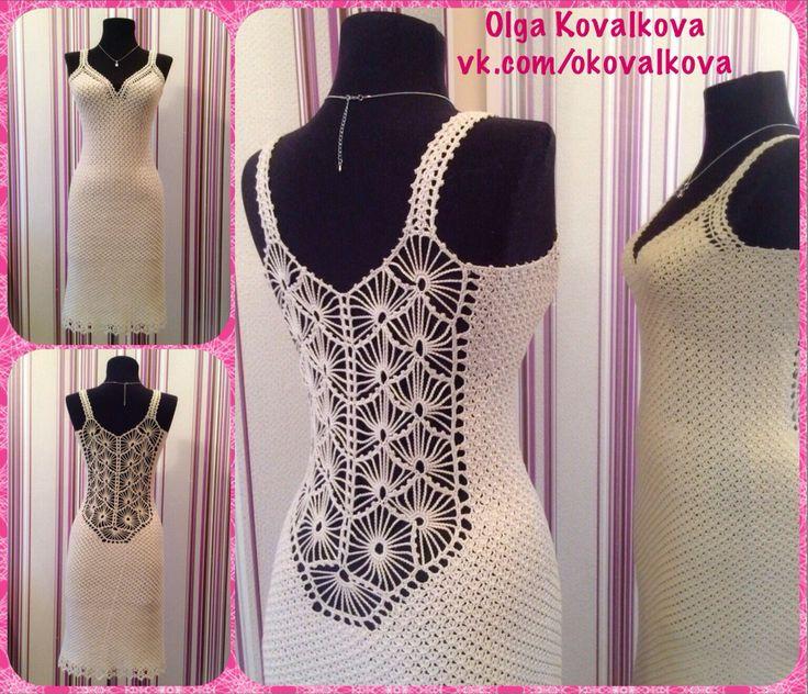 Вечернее платье. Связано на заказ