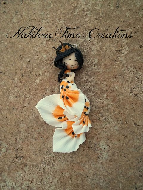 Carpa-Koi Mermaid Polymer Clay by Nakihra Fimo Creations, via Flickr