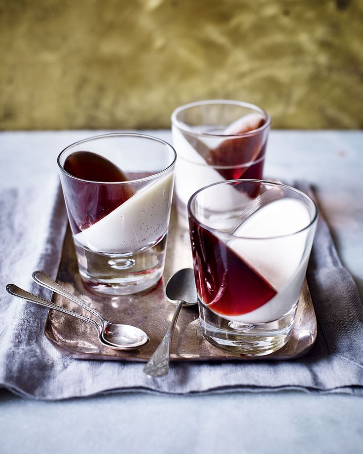 The addition of rosemary and sloe gin-spiked jelly takes these from classic pannacotta to a really special dinner party dessert.