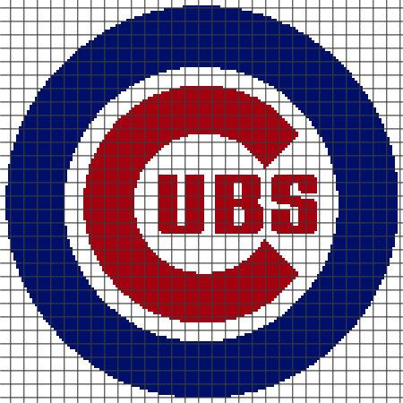 Chicago Cubs Crochet Graphghan Pattern (Chart/Graph AND Row-by-Row Written Instructions) - 01
