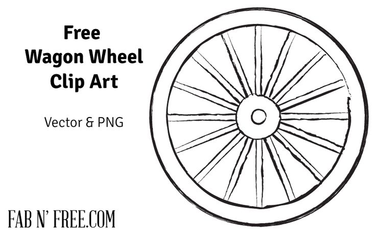 Free Pioneer Quote Free Wagon Wheel Clip Art Art