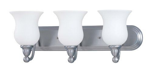 Nuvo Lighting 60/2569 Glenwood 3-Light Vanity Light with Satin White Glass, Brushed Nickel by Nuvo. $129.98. From the Manufacturer                Founded in 1966, Satco is well known as a premier supplier of a variety of lighting products. The SATCO brand includes light bulbs, electrical accessories, lighting hardware and glassware. Nuvo Lighting was launched by Satco in 2005. From the beginning, energy efficiency was the cornerstone of Nuvo Lighting's product develo...
