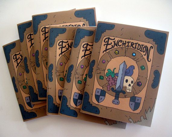 Enchiridion Mini Notebooks (Adventure Time birthday party favors / supplies)