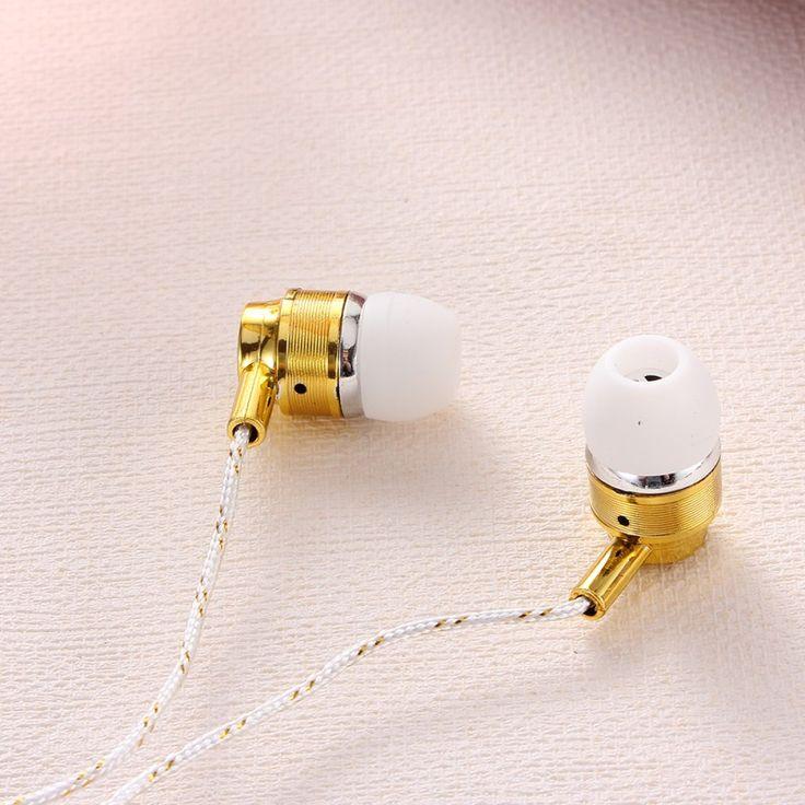 Barato Chic 3.5 mm de ouvido fones de ouvido estéreo Super baixo de Metal frete grátis, Compro Qualidade Fones de ouvido diretamente de fornecedores da China:   Hot durável 3,5 mm Stereo Headset In-Ear fone de ouvido para telefones celulares MP3 1,1 m cabo 3,5 mm de armazenament