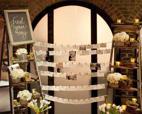 Un'alternativa al tableau mariage: le escort cards   Wedding Wonderland