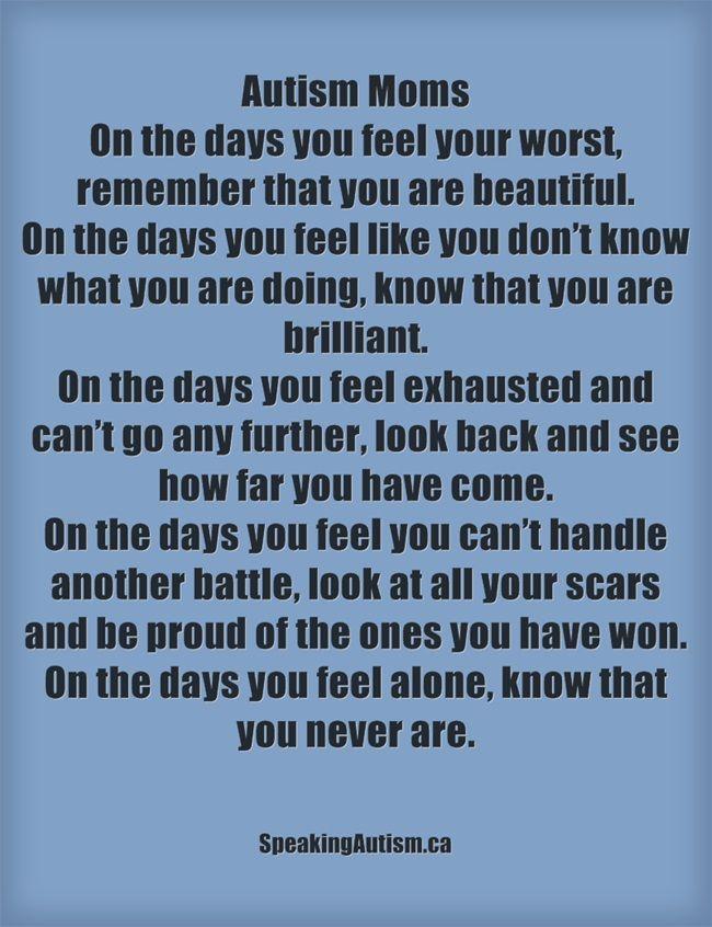 Quotes From Autism Parents. QuotesGram