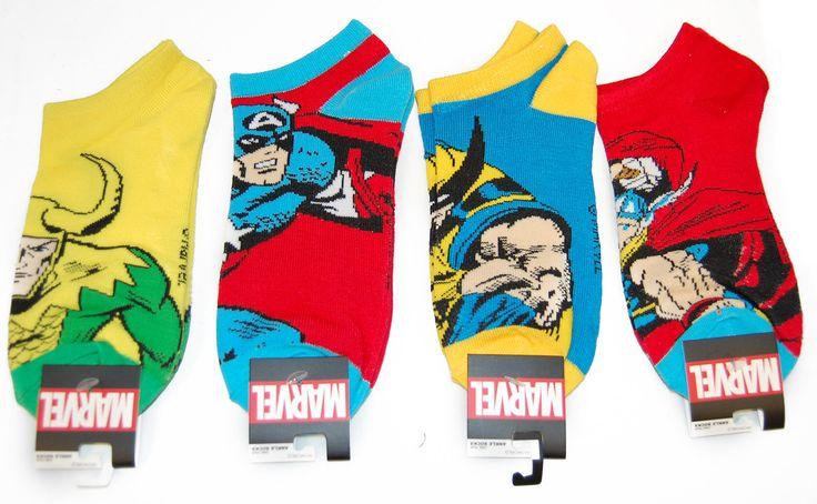 Marvel Character Ankle Socks 4 Pair