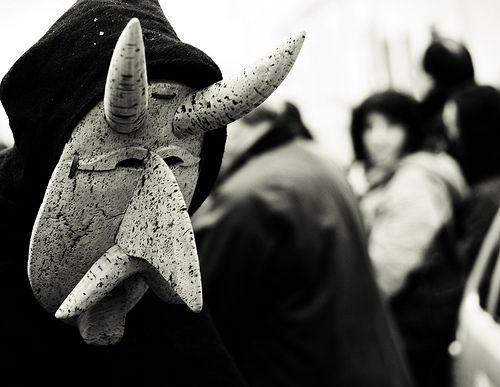 Su Bundu, traditional mask of Orani, Sardinia.   Antiche Storie : Carrasecare