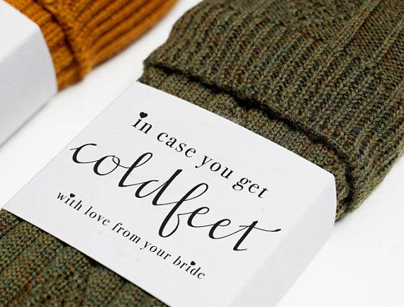 The 25 best cold feet ideas on pinterest groom wedding socks in case you get cold feet socks label the perfect little gift to surprise him on your special day wrap with your own wedding socks junglespirit Images