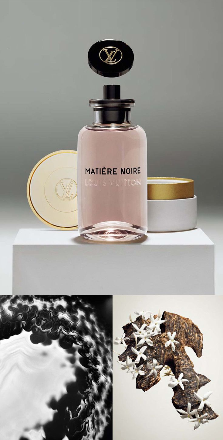Matière Noire Les Parfums Louis Vuitton - A blend of dark wood and white flowers ventures into a world of mystery.