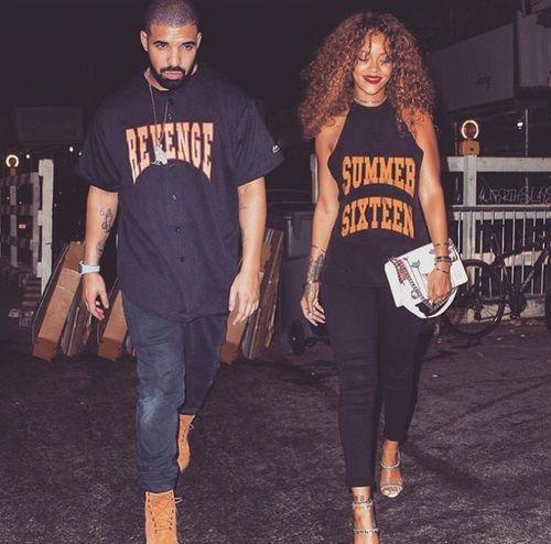 Drake, rihanna, and love image