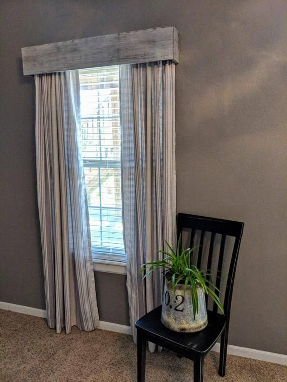 Custom Window Treatments White Wash Valance Cornice