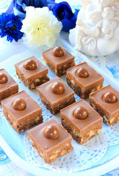 Carrés au chocolat & au lait malté -recette clic photo