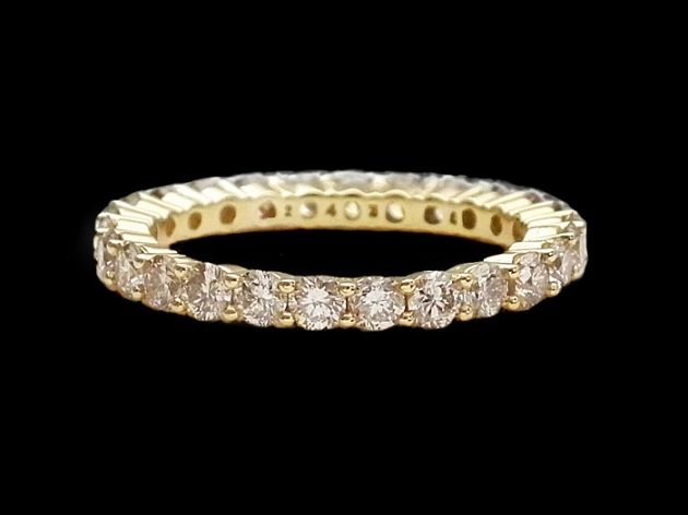 gold vintage eternity ring