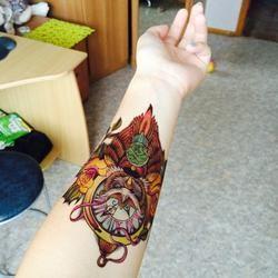 Tatouage temporaire autocollants Cool hibou pour femmes et les l'hommes