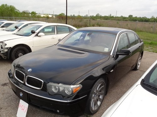 2004 BMW 745 Li 4 Dr Black LISTING 15665 Ends