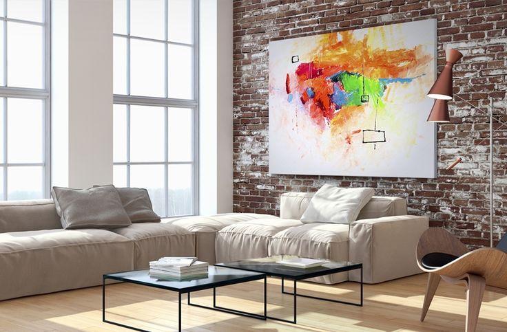 """Cuadro sobre lienzo """"Colores perdidos"""", listo para tu salón, impresión de colores preciosos que animen el ambiente.¡Satisfacción garantizada ! Gran selección de cuadros online en bimago."""