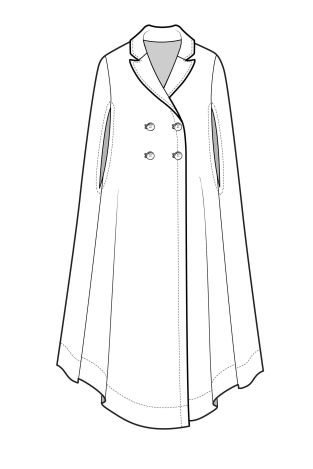 FASHION DRAWING ... A/W 15/16 Design Direction: Womenswear outerwear ... AKA the worst trench/poncho in the universe.