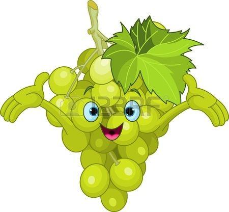 Ilustración de un racimo de uvas. Foto de archivo.