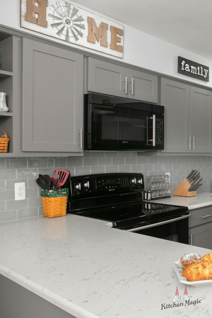 A Full Kitchen Remodel Could Render Your Kitchen Unusable For As Long As Six Weeks But We Grey Kitchen Cabinets Kitchen Cabinets Makeover Full Kitchen Remodel
