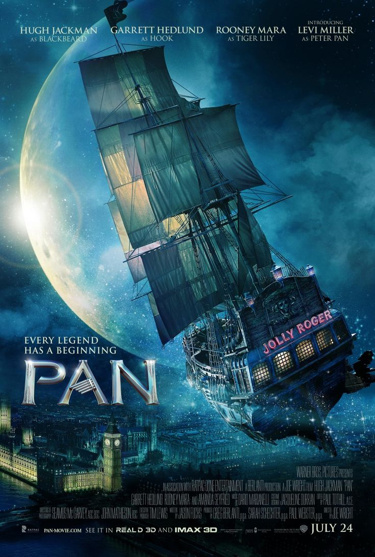 Pan (Sept 2015) - a very enjoyable origin story for Peter Pan and how he camw to be in Neverland - nicely shot, good cast Peter is endearing, Hook charming and Tiger-lily inspiring. Very enjoyable. 3.5 stars