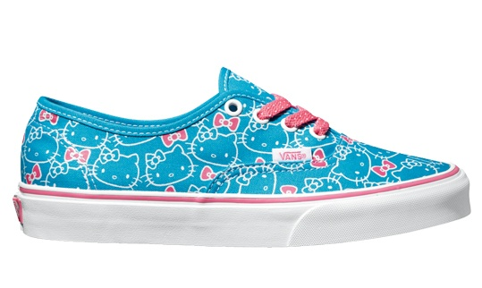 HELLO KITTY VANS - turquoise blue and pink
