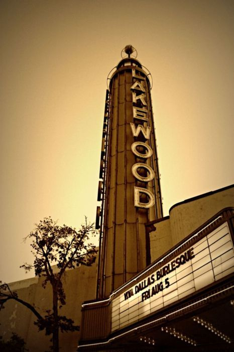 Lakewood Theater, Dallas, Texas - right in the heart of Lakewood.  Cool historic movie theater which is being renovated after the hail storm.  It's right by the new Mi Cocina