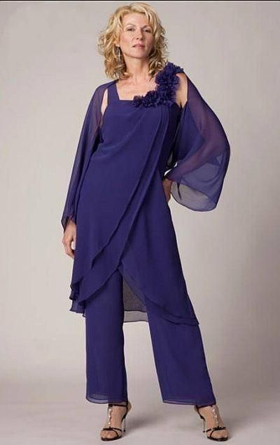 Joan Rivers Suit 2015hot Sale Summer Dress Gorgeous And Fashion Mother Of The Bride And Groom Plus Size Chiffon Pants Suit For Beach Wedding With Jacket Mother Of The Groom Suit From Kamaliyadress, $137.18  Dhgate.Com