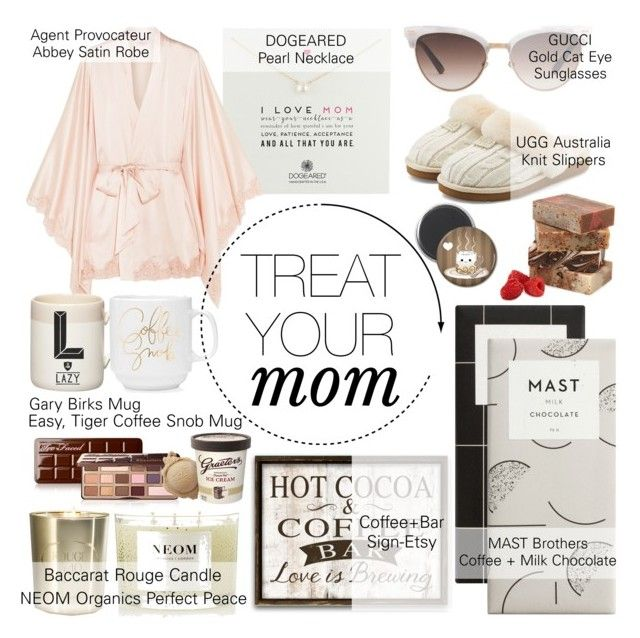 MOTHER'S DAY BRUNCH by counterkitty on Polyvore featuring polyvore, interior, interiors, interior design, maison, home decor, interior decorating, Gary Birks Design, NEOM Organics, Baccarat, Agent Provocateur, UGG, Dogeared, Gucci, Too Faced Cosmetics and MothersDayBrunch