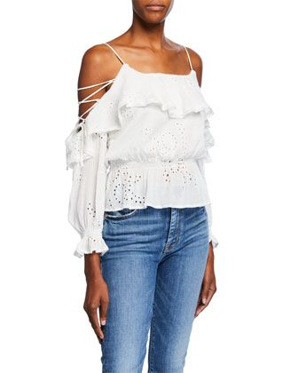 51be71fb1e26 Kennedy+Cold+Shoulder+Eyelet+Top+by+ASTR+at+Neiman+Marcus+Last+Call ...
