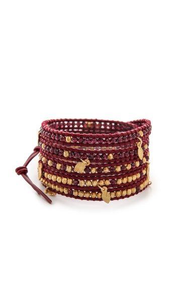 Chan Luu Beaded Charm Wrap Bracelet